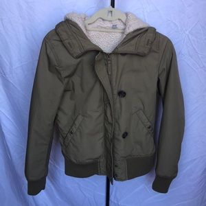 Uniqlo army jacket, removable Sherpa lining